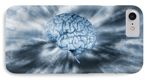 Artificial Intelligence With Human Brain IPhone Case by Christian Lagereek