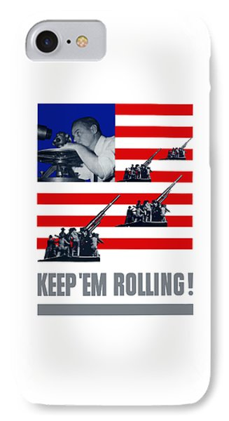 Artillery -- Keep 'em Rolling Phone Case by War Is Hell Store