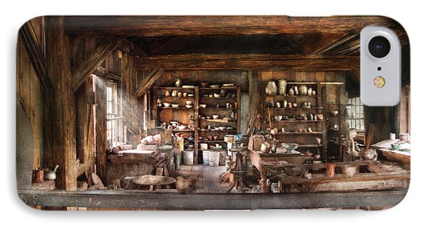Artist - Potter - The Potters Shop  IPhone Case by Mike Savad