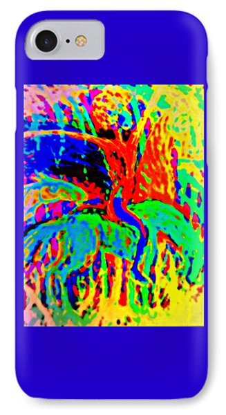 The Artist Of The Burning Rainbow  IPhone Case by Hilde Widerberg
