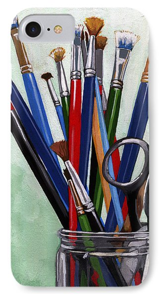Artist Brushes IPhone Case by Linda Apple