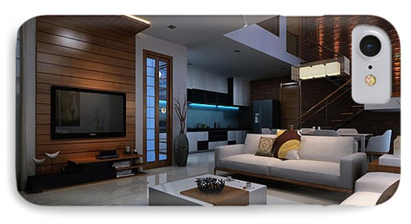 Artist Impression 3d Render Apartment Interior Phone Case By KCL Solutions