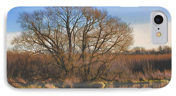 Artistic Creek Tree  IPhone Case by Leif Sohlman