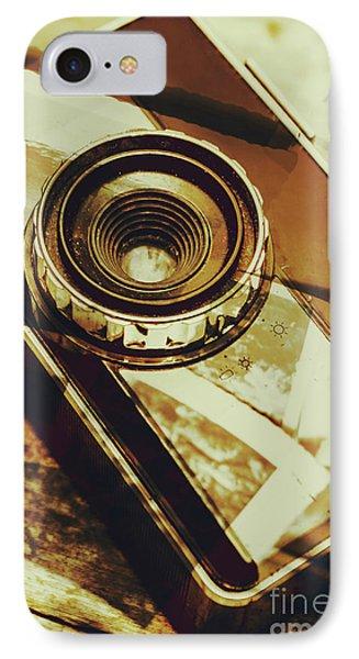 Artistic Double Exposure Of A Vintage Photo Tour IPhone Case