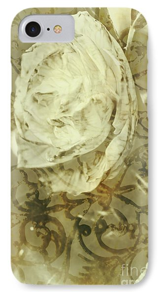 Artistic Vintage Floral Art With Double Overlay IPhone Case by Jorgo Photography - Wall Art Gallery