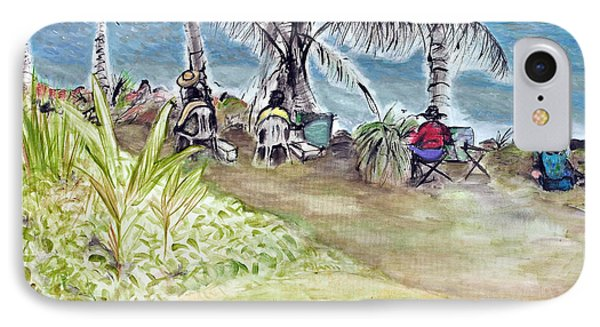 Far North Queensland iPhone 7 Case - Artists By The Sea by Kerryn Madsen-Pietsch