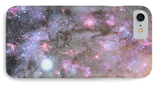 IPhone Case featuring the digital art Artist's View Of A Dense Galaxy Core Forming by Nasa