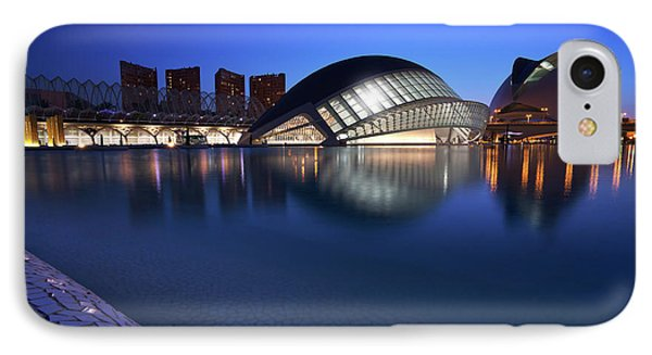Arts And Science Museum Valencia IPhone Case by Graham Hawcroft pixsellpix