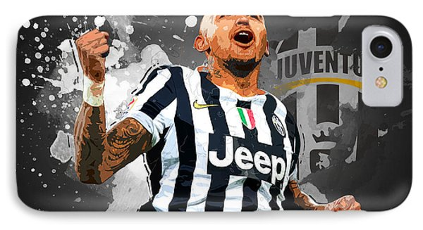 Arturo Vidal IPhone Case by Semih Yurdabak