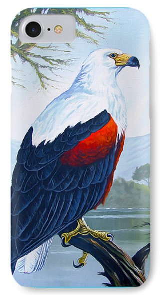 IPhone Case featuring the painting African Fish Eagle by Anthony Mwangi