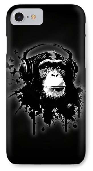 Monkey Business - Black IPhone 7 Case by Nicklas Gustafsson