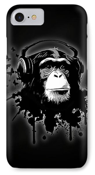 Monkey Business - Black IPhone Case by Nicklas Gustafsson