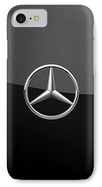 Mercedes-benz - 3d Badge On Black IPhone 7 Case