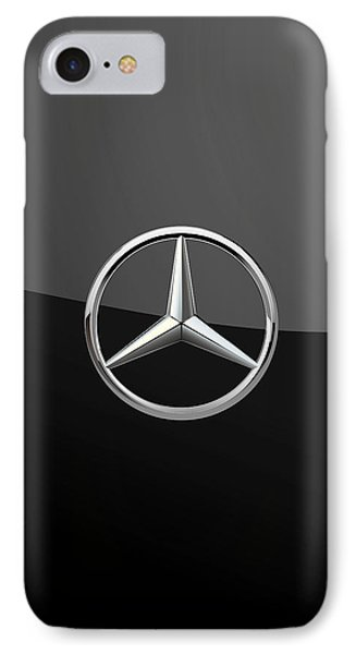 Mercedes-benz - 3d Badge On Black IPhone Case