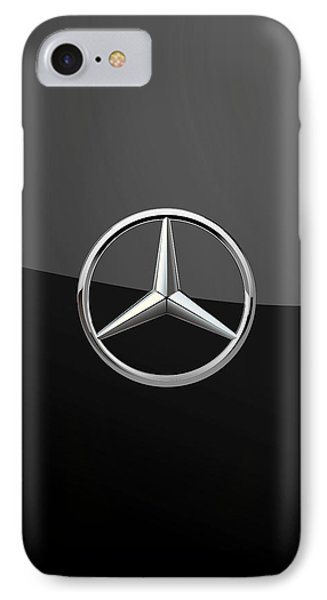 Mercedes-benz - 3d Badge On Black IPhone Case by Serge Averbukh