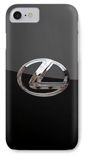 Lexus - 3d Badge On Black IPhone Case by Serge Averbukh