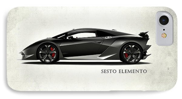 Lamborghini Sesto Elemento IPhone Case by Mark Rogan