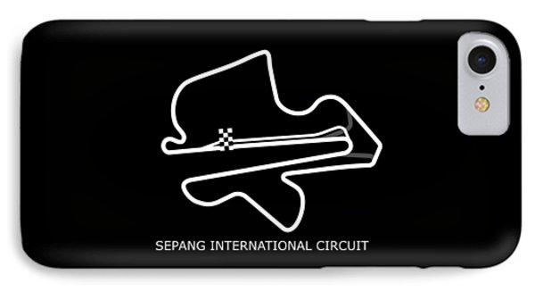 Sepang Circuit IPhone Case by Mark Rogan