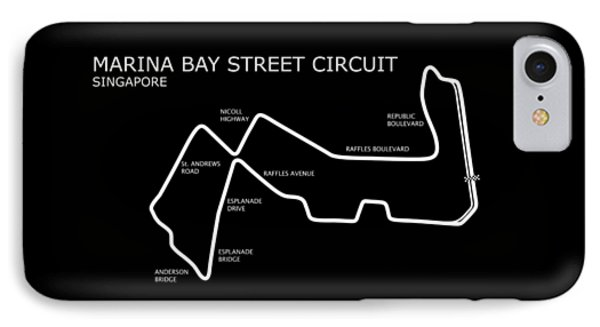 Marina Bay Circuit IPhone Case