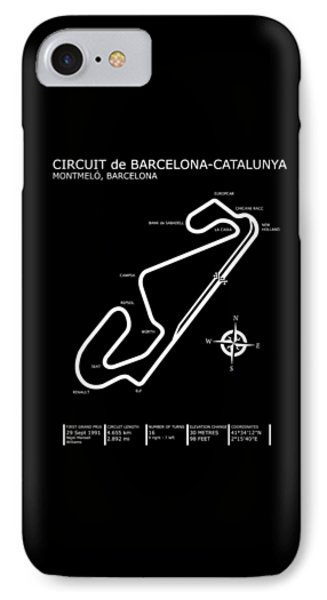 Circuit De Barcelona Catalunya IPhone Case