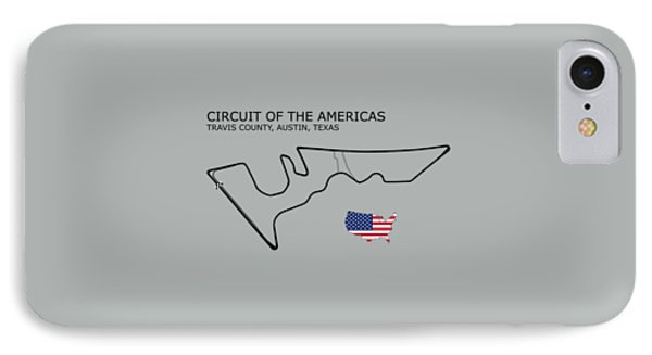 Circuit Of The Americas Phone Case by Mark Rogan