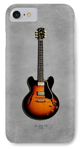 Gibson Es 335 1959 IPhone 7 Case by Mark Rogan