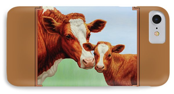 Cow iPhone 7 Case - Cream And Sugar by Crista Forest