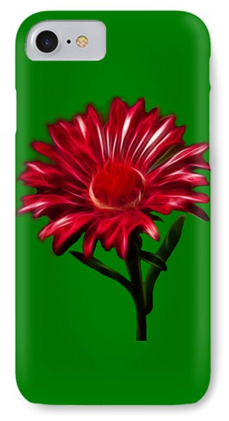 Red Daisy IPhone Case by Shane Bechler