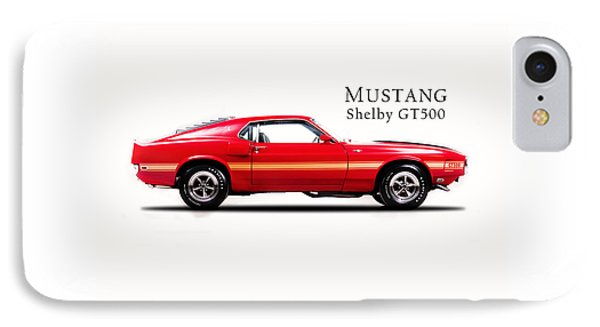 Ford Mustang Shelby Gt500 1969 Phone Case by Mark Rogan