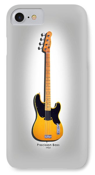 Fender Precision Bass 1951 IPhone Case by Mark Rogan