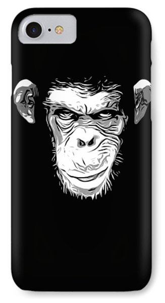 Chimpanzee iPhone 7 Case - Evil Monkey by Nicklas Gustafsson