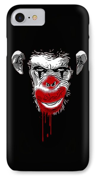 Evil Monkey Clown IPhone 7 Case by Nicklas Gustafsson