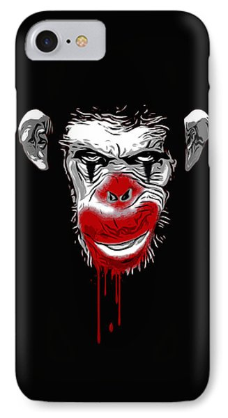 Ape iPhone 7 Case - Evil Monkey Clown by Nicklas Gustafsson