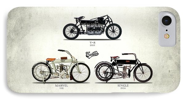 The Curtiss Motorcycle Collection IPhone Case by Mark Rogan
