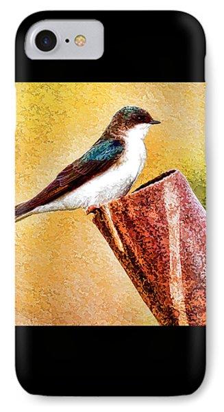 Male Tree Swallow No. 2 IPhone Case by Bill Kesler