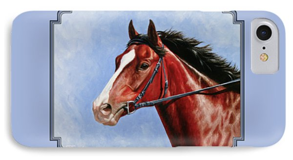 Horse Painting - Determination IPhone Case by Crista Forest