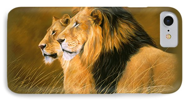 Lion iPhone 7 Case - Side By Side by Lucie Bilodeau