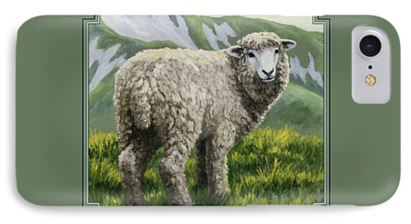 Highland Ewe IPhone 7 Case by Crista Forest