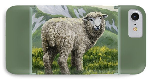 Highland Ewe IPhone Case by Crista Forest