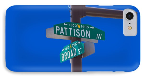Broad And Pattison Where Philly Sports Happen Phone Case by Photographic Arts And Design Studio