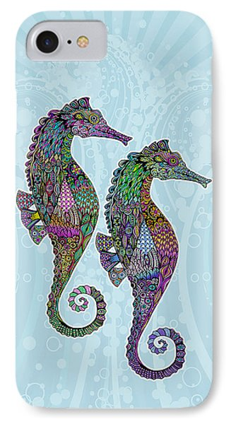 Electric Seahorses IPhone Case by Tammy Wetzel
