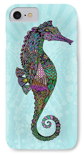 Electric Lady Seahorse  IPhone Case by Tammy Wetzel