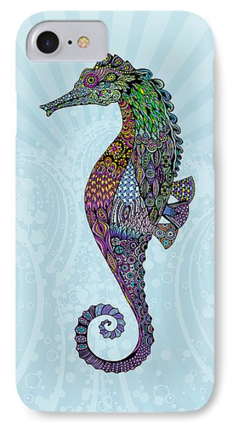 Electric Gentleman Seahorse IPhone Case by Tammy Wetzel