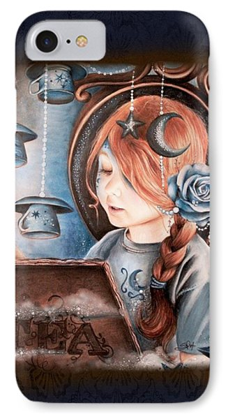 IPhone Case featuring the drawing Tea In The Moonlight by Sheena Pike