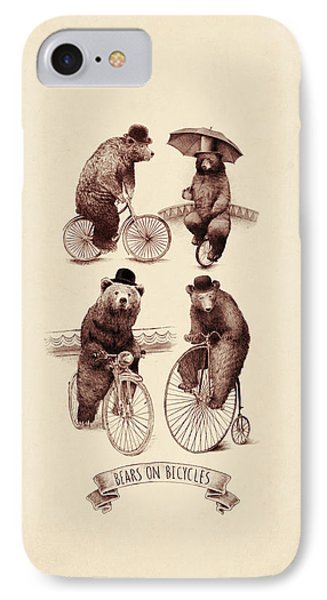 Bears On Bicycles IPhone 7 Case by Eric Fan
