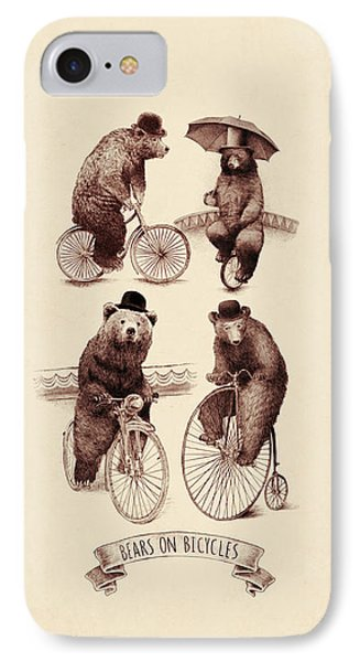 Bears On Bicycles IPhone Case