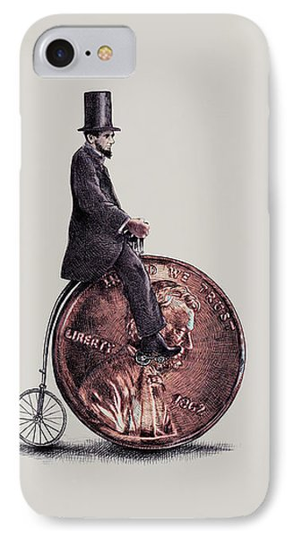 Bicycle iPhone 7 Case - Penny Farthing by Eric Fan