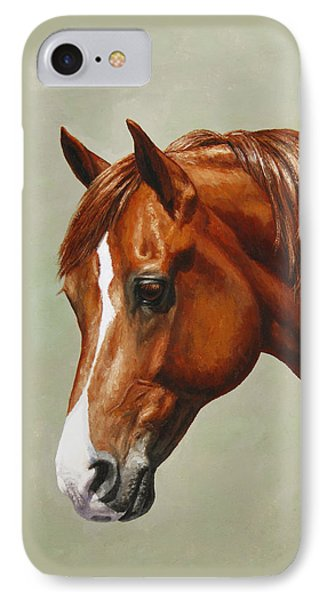 Morgan Horse - Flame - Mirrored IPhone Case