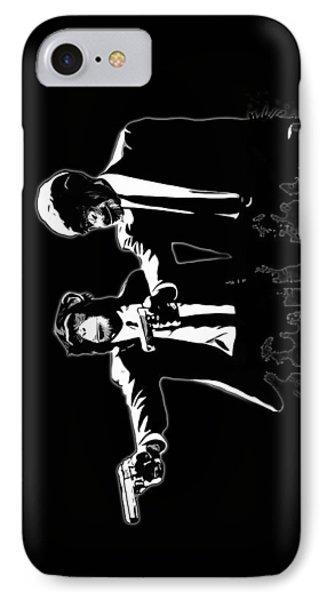 Divine Monkey Intervention - Pulp Fiction IPhone Case by Nicklas Gustafsson