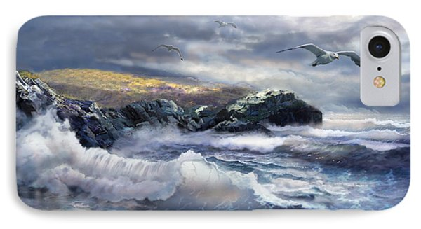 North Head Lighthouse At The Eve Of A Storm IPhone Case by Regina Femrite